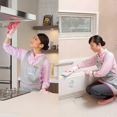 キッチン中心お掃除/浴室中心お掃除
