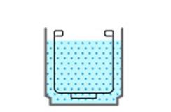 洗浄水で浸け置き