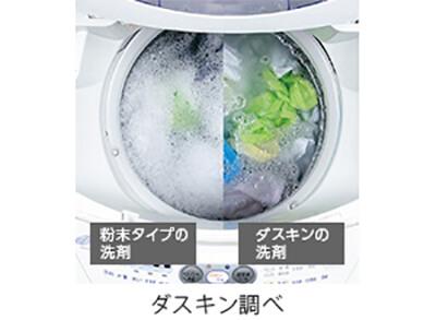 粉末タイプの洗剤とダスキンの洗剤比較 ダスキン調べ